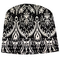 Beanie hat - black and white