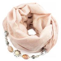 Warm bijoux scarf - dark red