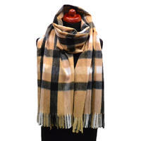 Blanket scarf - brown and black