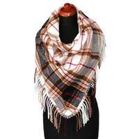 Blanket square scarf - light grey