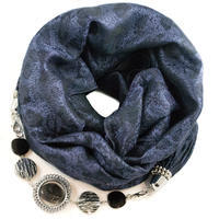 Warm jewelry scarf - violet