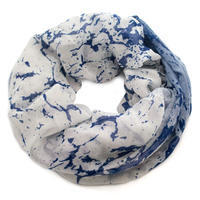 Infinity scarf - white and blue