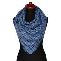 Big square scarf - blue and red
