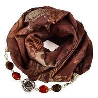 Warm bijoux scarf - brown
