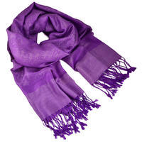 Classic cashmere scarf - bright violet