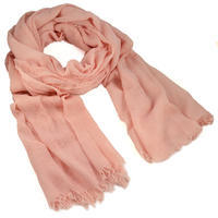 Classic women's scarf - solid pink