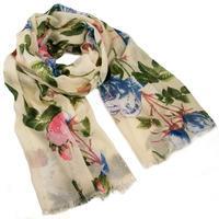 Classic women's scarf - yellow