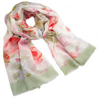 Classic women's scarf - green and red