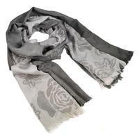 Classic women's scarf - grey