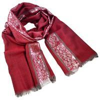 Classic women's scarf - red