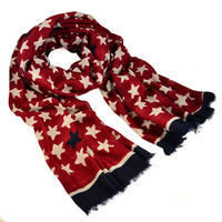 Classic women's scarf - red and blue