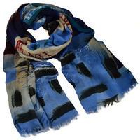 Classic women's scarf - blue