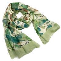 Classic women's scarf - green