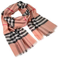 Classic cotton scarf - pink
