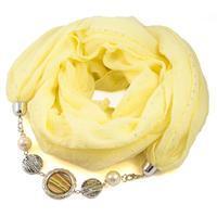 Cotton jewelry scarf Bijoux Me - yellow