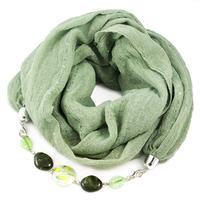 Cotton jewelry scarf Bijoux Me - green