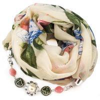 Cotton jewelry scarf - beige