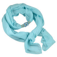 Jewelry scarf Bijoux Me - solid turquoise