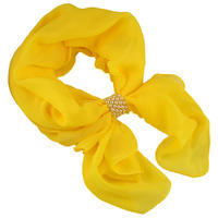 Jewelry scarf Melody - yellow