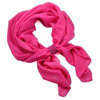 Jewelry scarf Melody - fuchsia pink