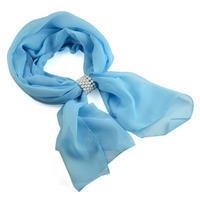 Jewelry scarf Melody - light blue