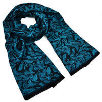 Classic cashmere scarf 69cz002-32 - turquoise