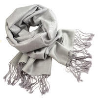 Classic cashmere scarf - light grey