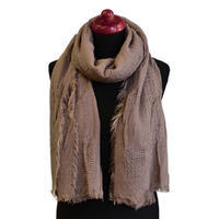 Classic warm scarf - brown