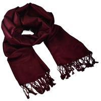 Classic warm scarf - dark wine red