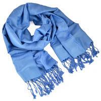 Classic cashmere scarf - light blue