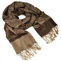 Classic winter scarf - brown