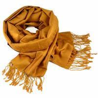 Classic cashmere scarf - mustard yellow