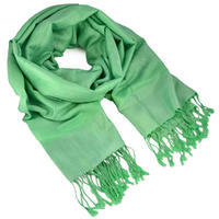 Classic cashmere scarf - green