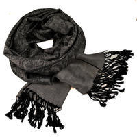 Classic cashmere scarf - grey