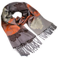 Classic warm scarf - brown and orange