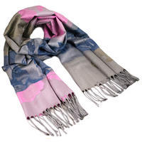 Classic warm scarf - pink and blue