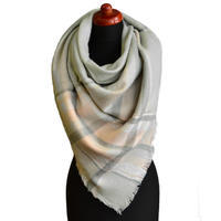 Blanket square scarf - light grey