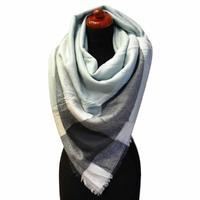 Blanket square scarf - light blue