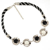 Necklace - black and white