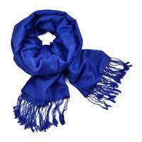 Classic cashmere scarf - blue