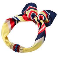 Jewelry scarf Stewardess - yellow and blue