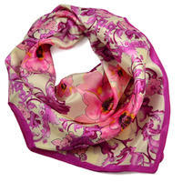 Small neckerchief 63sk004-14.25 - pink and beige