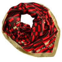 Small neckerchief 63sk009-20.40 - red and bronze