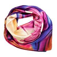 Small neckerchief 63sk004-35.30 - violet and blue