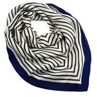 Square scarf - white and blue