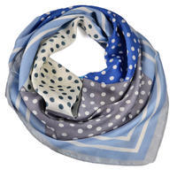 Square scarf - light blue and grey