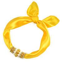 Jewelry scarf Stewardess - yellow