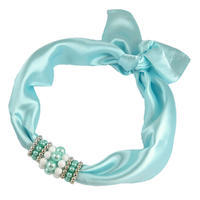Jewelry scarf Stewardess - light blue