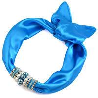 Jewelry scarf Stewardess - bright blue