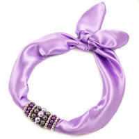 Jewelry scarf Stewardess - light violet